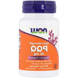 NOW Foods Extra Strength PQQ 40 mg - 50  vCaps COGNITIVE MIT