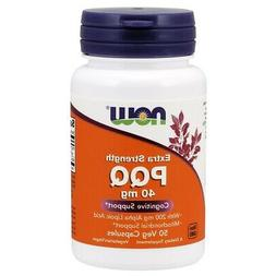 NOW Foods Extra Strength PQQ 40 mg, 50 Vegetable Capsule