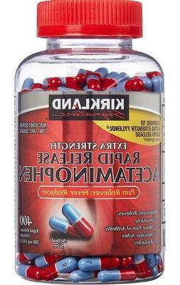 Kirkland Extra Strength Rapid Release Acetaminophen 500mg 40