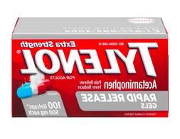 Tylenol Extra Strength Rapid Release Gels 100 Count Gel Caps
