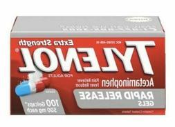 TYLENOL Extra Strength Rapid Release Gels Capsules  500mg ex