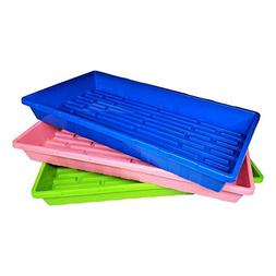 "Multi-Color Extra Strength Seedling Trays  - 20"" x 10"", 6 pa"