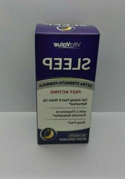 Vita Value Extra Strength Sleep Aid. Drug Free Formula.