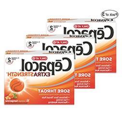Cepacol Extra Strength Sugar Free, Orange 16Ct
