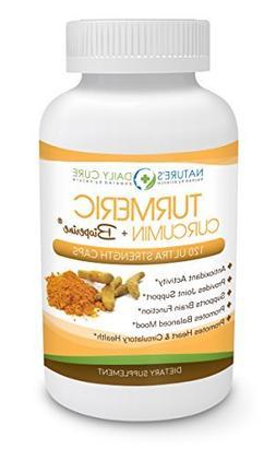 Extra Strength Turmeric Curcumin Supplement With Bioperine ,