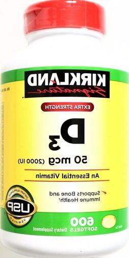 Kirkland Signature Extra Strength Vitamin D3 USP 2000 IU, 60