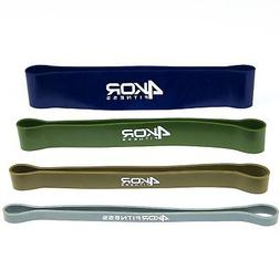 Set of 4 Extra Thick Resistance Loop Mini Bands by 4KOR Fitn