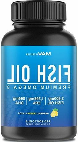 Omega 3 Fish Oil Extra Strength Organic 2500mg + 900mg EPA +