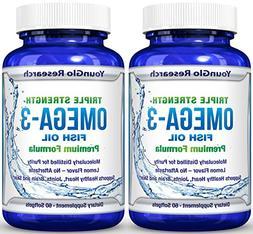 Fish Oil Pills - Pharmaceutical Quality - Triple Strength Om