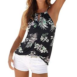 CocoMarket Womens Floral Summer Strappy Vest Top Sleeveless