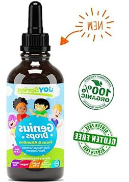 Best Natural Focus Supplement for Kids, Supports Healthy Bra