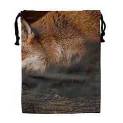 Fox Picture Men's Women's Print Shoulder Drawstring Bags Sch