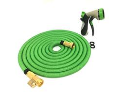 Knopmax Garden Hose with Adjustable Nozzle  Heavy-Duty, Tang
