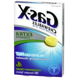 Gas-X Chewables Extra Strength Peppermint Creme, 18 Tablets,