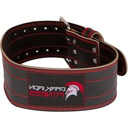 medium size 4 inch leather weight lifting belt for men and w