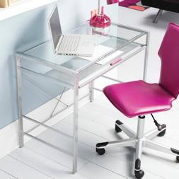 Mainstays Glass-Top Desk, Multiple Colors tempered glass top