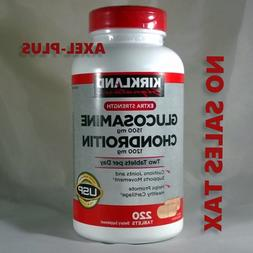 Kirkland Signature  Glucosamine & Chondroitin, 220 Tablets E