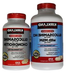 Kirkland Signature Glucosamine HCI 1500mg with MSM or Chondr