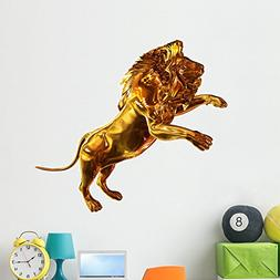 Wallmonkeys Golden Lion Wall Decal Peel and Stick Graphic  W
