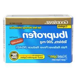 GoodSense Ibuprofen Pain Reliever/Fever Reducer, 200 mg Capl