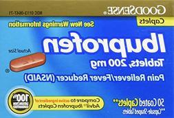 GoodSense Ibuprofen Pain Reliever/Fever Reducer Caplets, 200