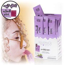 Grape Jelly Gummies with Biotin 5000 mcg , 21 Individually W