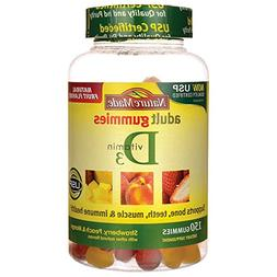 Nature Made Vitamin D3 Adult Gummies  Value Size 150 Ct