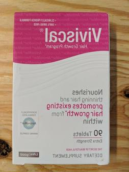 Viviscal Hair Growth Program Extra Strength 90 Tablets Exp 2