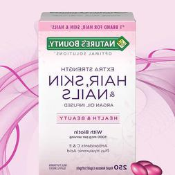 Nature's Bounty HAIR SKIN and NAILS 250 Softgels Multivitami