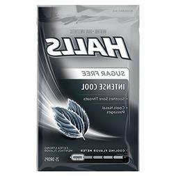 Halls Extra Strength Sugar Free Cough Drops, Intense Cool 25