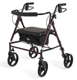"Heavy Duty Bariatric Mobility Rollator with 8"" Deluxe Whee"