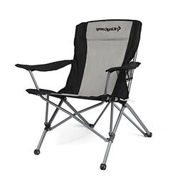 KingCamp Heavy Duty Folding Arm Chair with Comfotable Tilted