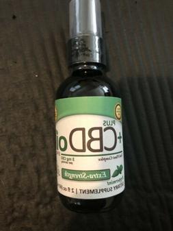 Hemp Oil Drops Extra Strength 3mg/serving Peppermint By CVsc