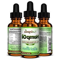 Organic Hemp Oil by Cali Organics - 450mg Bottle - Great for