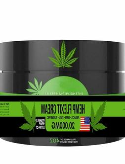 Hemp Pain Relief Cream - Extra Strength - Relieves Muscle an