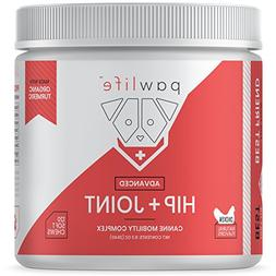 pawlife Hip and Joint Supplement for Dogs - 120 Natural Soft
