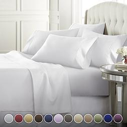 6 Piece Hotel Luxury Soft 1800 Series Premium Bed Sheets Set