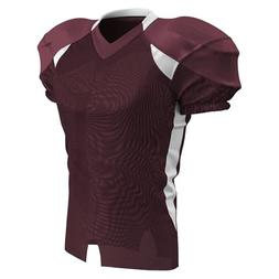 Champro Huddle Stretch Dazzle Youth Football Jersey - Maroon