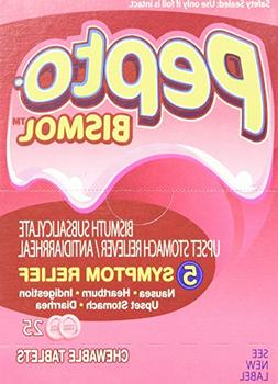 Pepto-Bismol BXPB25 Tablets, 25 Pouches of Two Chewable Tabl