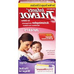 Tylenol Infnt Grape 1z Size 1z Tylenol Infant Oral Suspensio