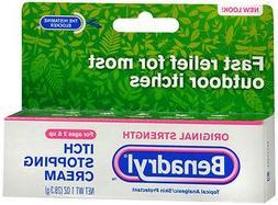 Benadryl Itch Stopping Cream, Original Strength, 1 Ounce