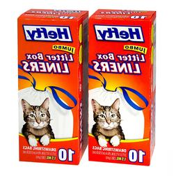 20ct Hefty Jumbo Litter Box Liners with Drawstrings Bags Cat