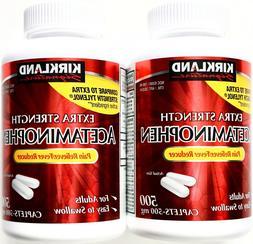 kirkland extra strength acetaminophen 500mg generic tylenol