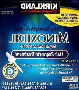 Kirkland Minoxidil 5% Box Extra Strength Men Hair Regrowth S