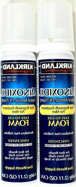 Kirkland Minoxidil 5% Extra Strength Men Hair Regrowth Foam,