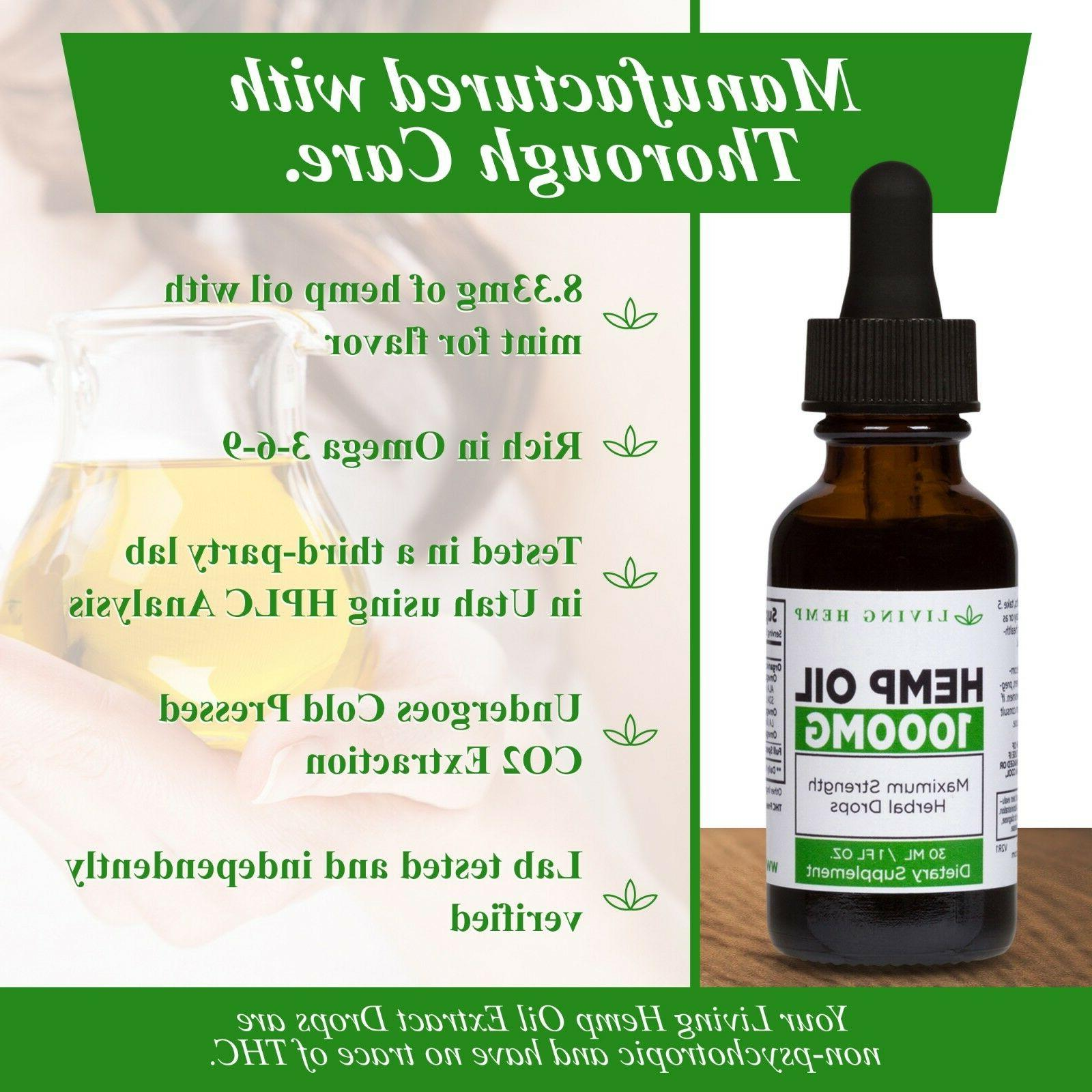 1000mg Hemp Oil Extra – Source for Omega 3 & 6 Living
