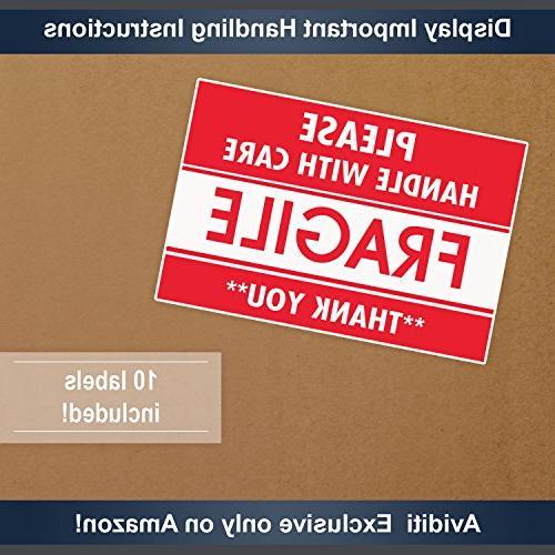 "Aviditi Single-Wall Box, Length 18"" Height, Kraft, Fragile"