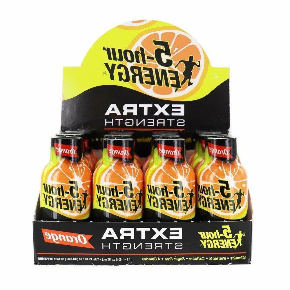 5 Hour Energy Extra Strength Orange 12/ct Wholesale 5hr Ener