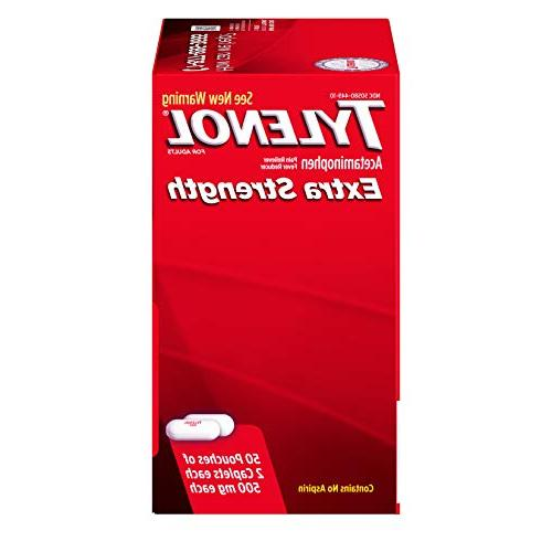 Tylenol Extra with for and Pain Pouches 2 each