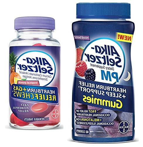 Alka Seltzer PM Heartburn Relief Gummies with Sleep Support,